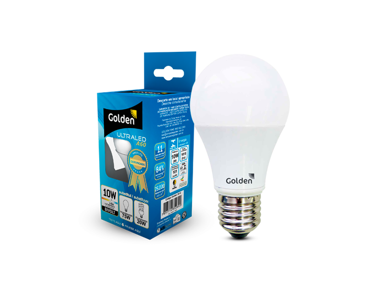 Kit de 6 lâmpadas LED 10W